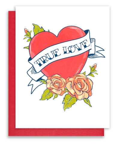 """True Love"" Tattoo Card"