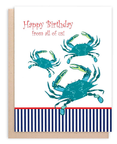 """Happy Birthday"" Crab Card"
