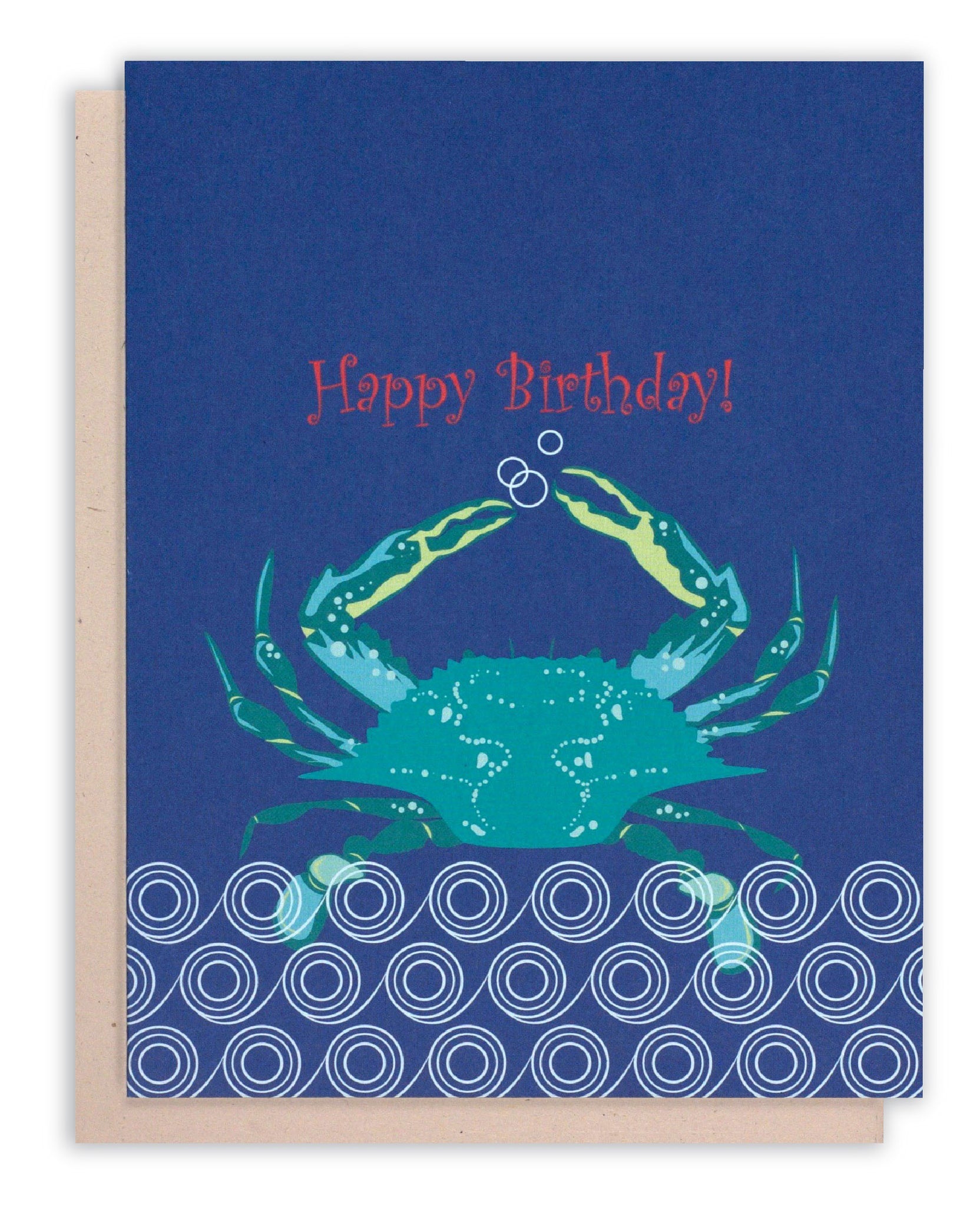 Blue Crab Happy Birthday Greeting Card