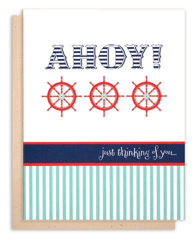 Ahoy!  Thinking Of You Greeting Card