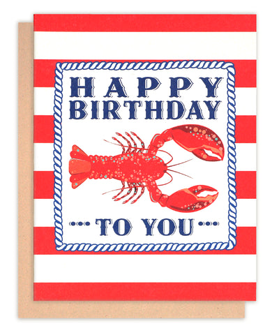 Red lobster Happy Birthday Card