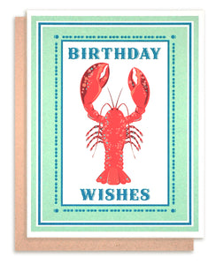 "Lobster ""Birthday Wishes!"""