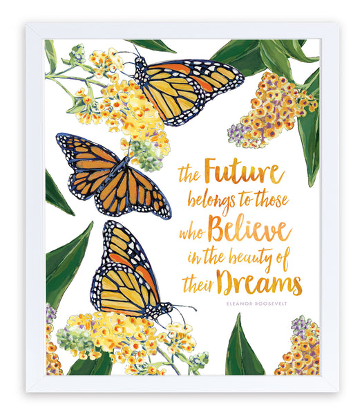 Monarch Butterfly Inspirational Art Print