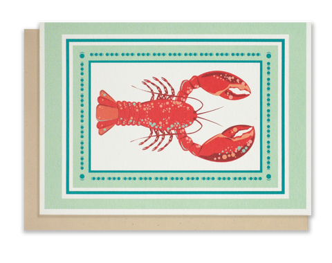 Red Lobster blank notecards