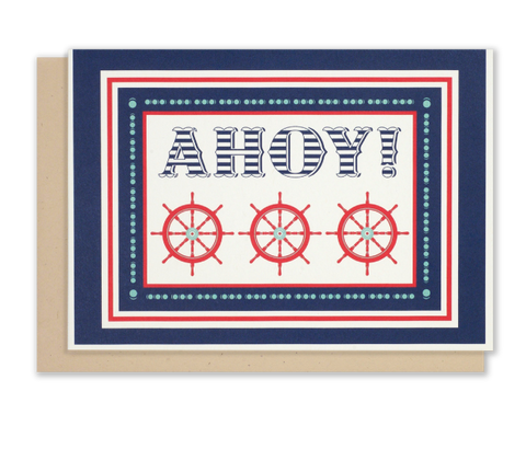 """AHOY!""  Nautical <br> Notecards - 8 pack"