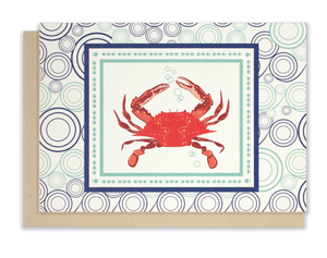 Red Crab Notecards