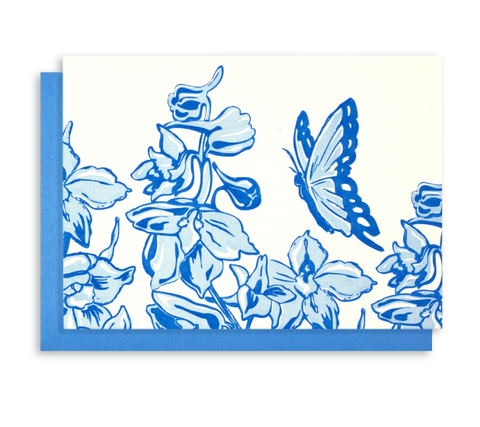 Letterpress Floral and<br>Butterfly Notecards - 6 pack