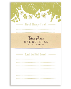 Bee and Linden Leaf Notepad