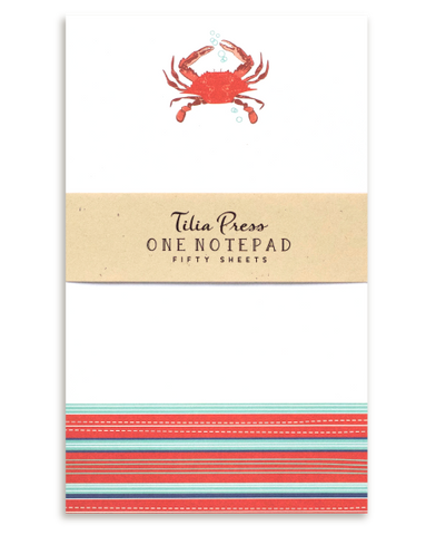 Red Crab Notepad