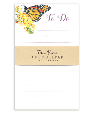 Monarch Butterfly Notepad - To Do List