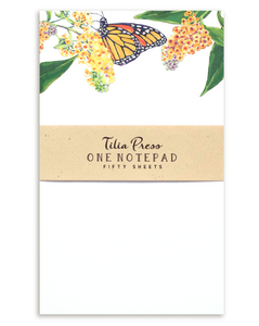 Monarch Butterfly Notepad Butterfly Bush Flowers