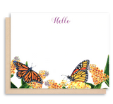 "Monarch Butterfly<br>""Hello"" - Flat Notes"