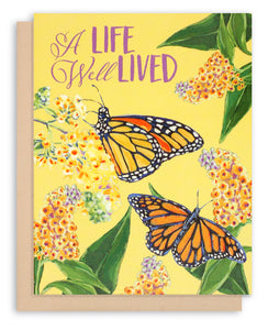 Monarch Butterfly Sympathy Card