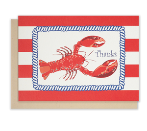 Red lobster thank you notecards