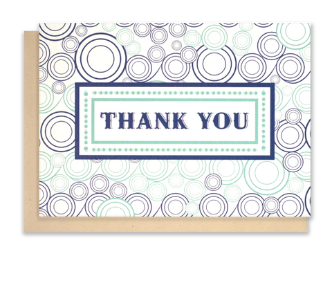 "Modern Wave ""Thank You""  Notecards"