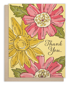 "Floral ""Thank You"" Card"