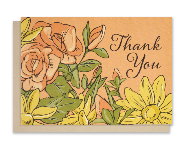 "Floral  ""Thank You"" Notecards"