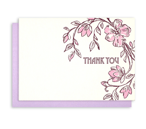 """Thank You"" Letterpress Notecards"