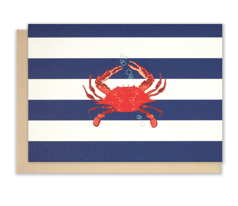 crab-note-cards-red-crab-nautical-notecards