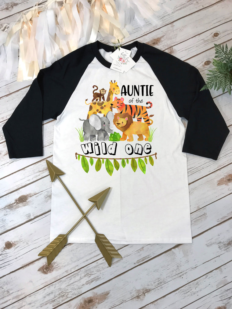 Auntie of the Wild One, Wild One Party, Jungle Birthday, Safari Birthday