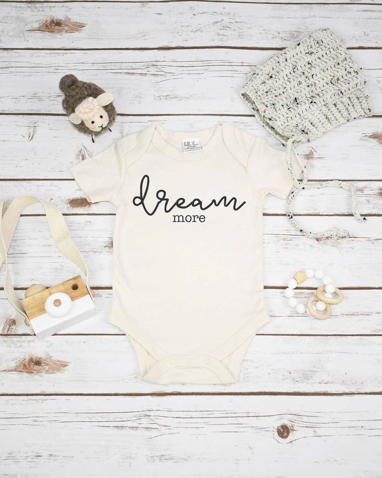Dream More, Organic Baby Bodysuit