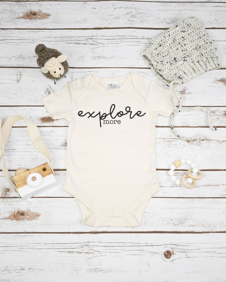 Explore More, Organic Baby Bodysuit