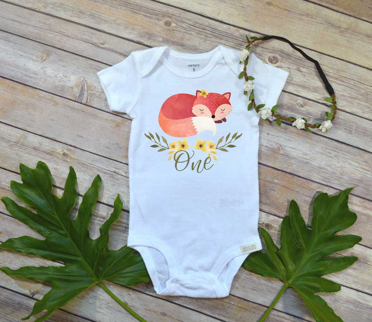 Wild One Birthday Girl, Fox One, First Birthday Outfit, Woodland Party, Woodland shirt Woodland Birthday
