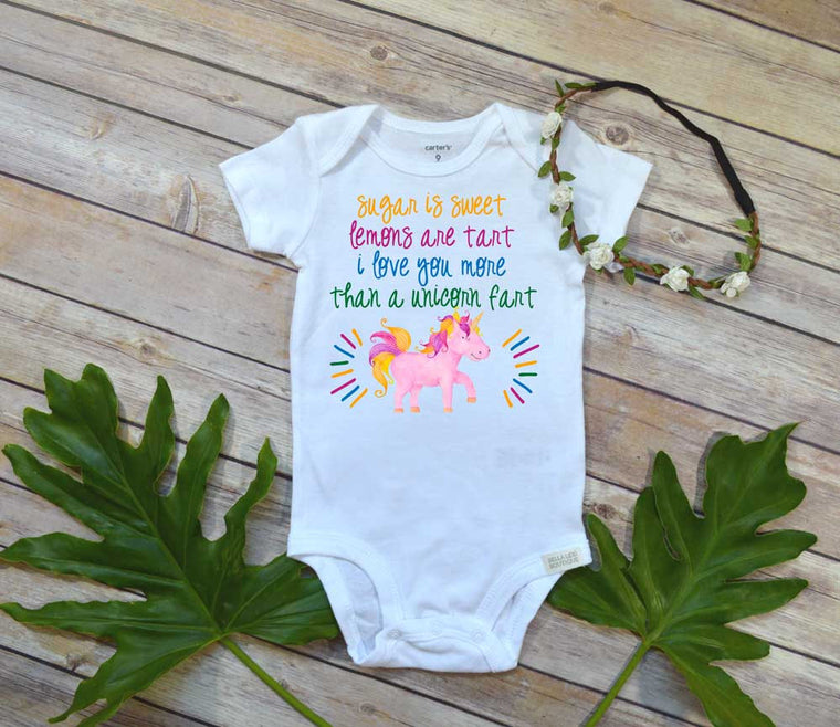 Unicorn shirt,Sugar is Sweet, Baby Shower Gift, Unicorn Baby, Funny baby clothes