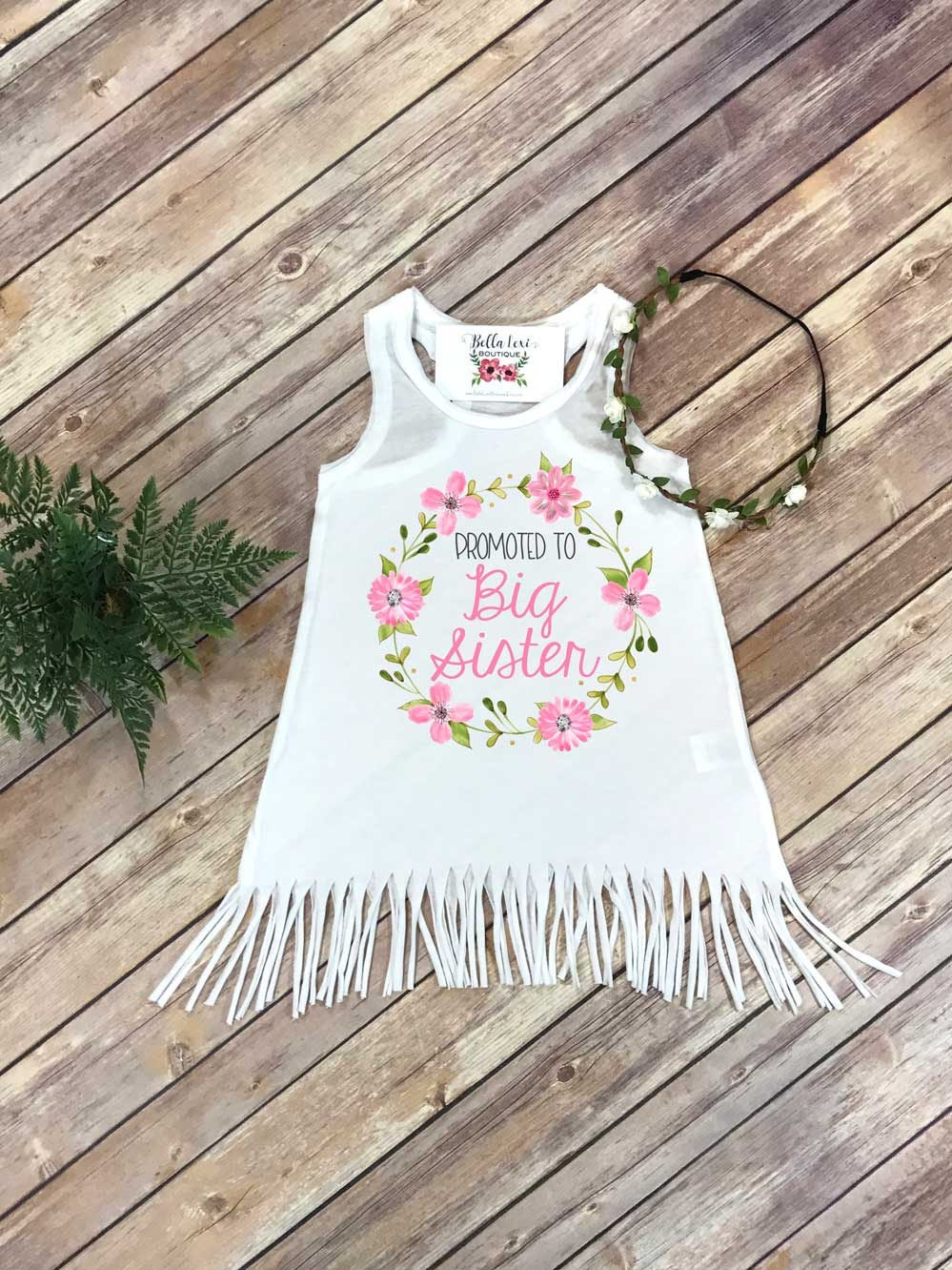 Promoted to Big Sister, Big Sister Dress, Big Sister Gift, Pregnancy Reveal, Baby Announcement