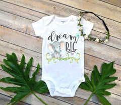 Dream Big, Elephant Theme, Newborn Baby Gift, Baby Shower Gift, Niece Gift - Bella Lexi Boutique