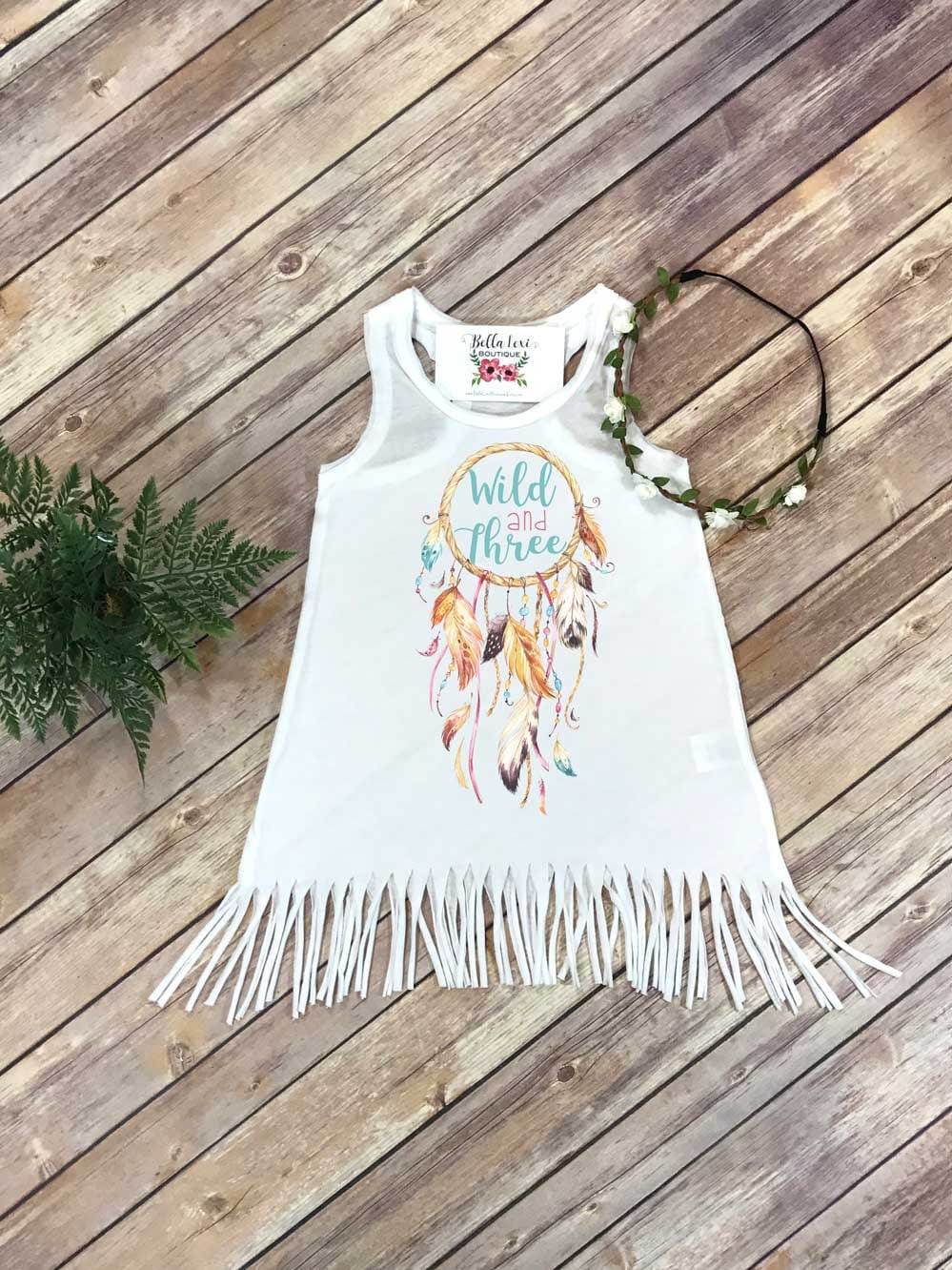 Third Birthday, Wild and Three, Girl Birthday Dress, 3rd Birthday, Fringe Birthday Dress