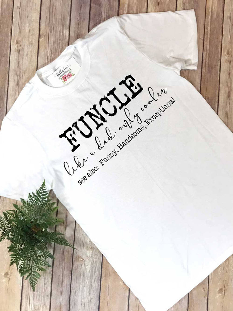Uncle Shirt, Funcle, New Uncle Reveal, Uncle Announcement, Uncle Gift - Bella Lexi Boutique