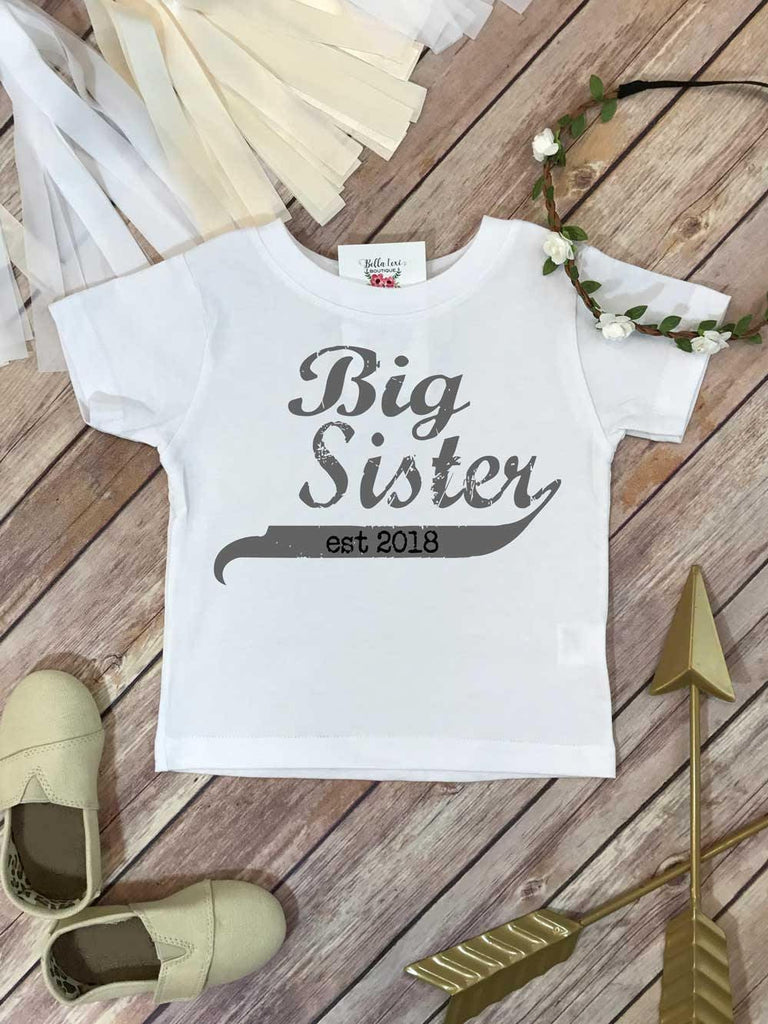 Big Sister Shirt, Promoted to Big Sister, Big Sister Gift, Pregnancy Reveal, Baby Announcement - Bella Lexi Boutique