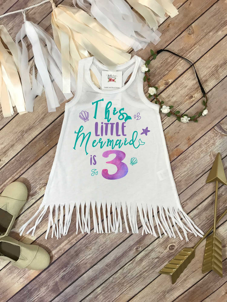 Mermaid Birthday, Third Birthday, This Little Mermaid is 3, 3rd Birthday, Mermaid Party