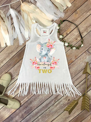 Second Birthday, Elephant Theme, Birthday Dress, 2nd Birthday, Personalized Birthday Dress - Bella Lexi Boutique