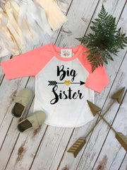 Big Sister Shirt, Big Sister Raglan, Sisters Shirts, Big Sister Arrow, Sister Shirt