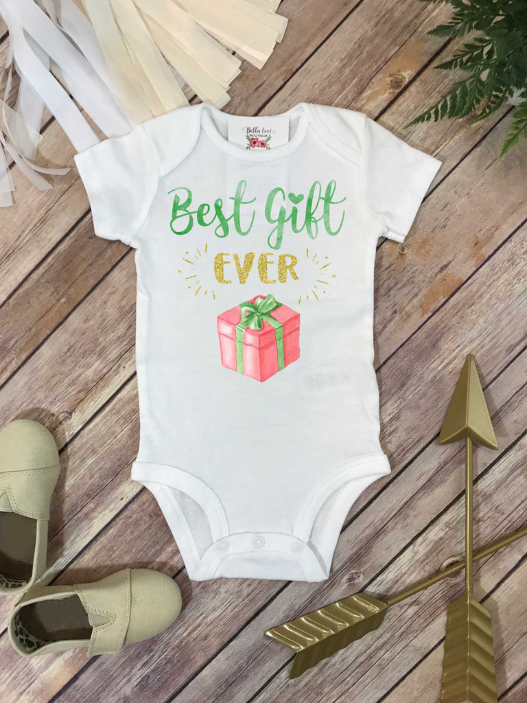 Christmas Baby, Best Gift Ever, Baby Shower Gift, Pregnancy Announcement, Pregnancy Reveal - Bella Lexi Boutique