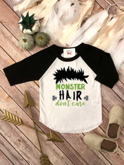 Halloween, Monster Hair Don't Care, Frankenstein Baby, Cutest Little Monster, First Halloween - Bella Lexi Boutique