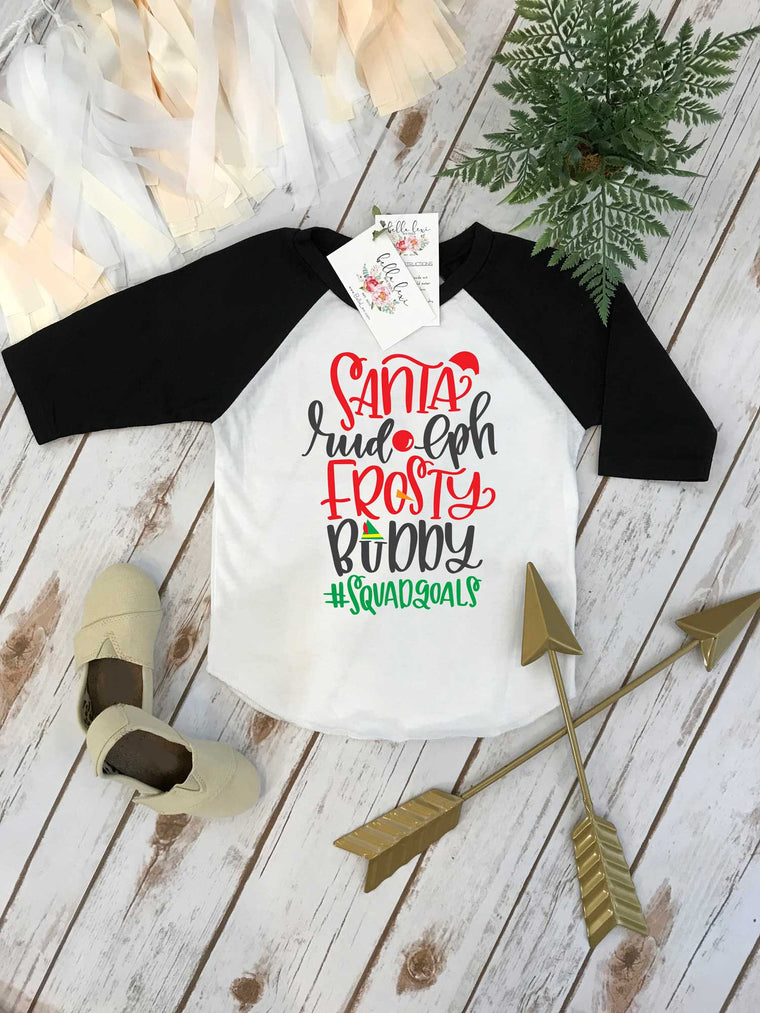 Christmas Shirt, Santa Rudolph Frosty Buddy, Christmas Squad Goals, 1st Christmas, My First Christmas