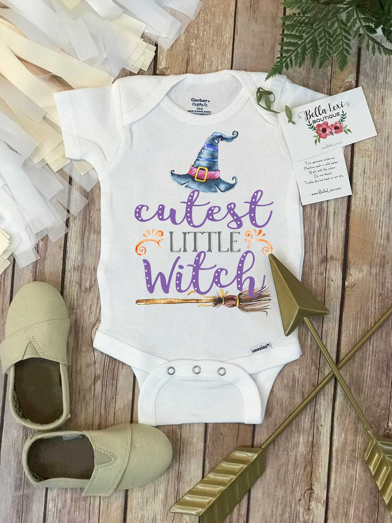 Halloween Onesie®, Cutest Little Witch, Halloween Baby, Mommy's Little Witch, First Halloween