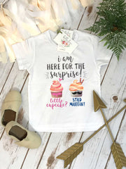 Gender Reveal, Little Cupcake or Stud Muffin, Pregnancy Reveal, Expecting Baby shirt, Baby Announcement - Bella Lexi Boutique