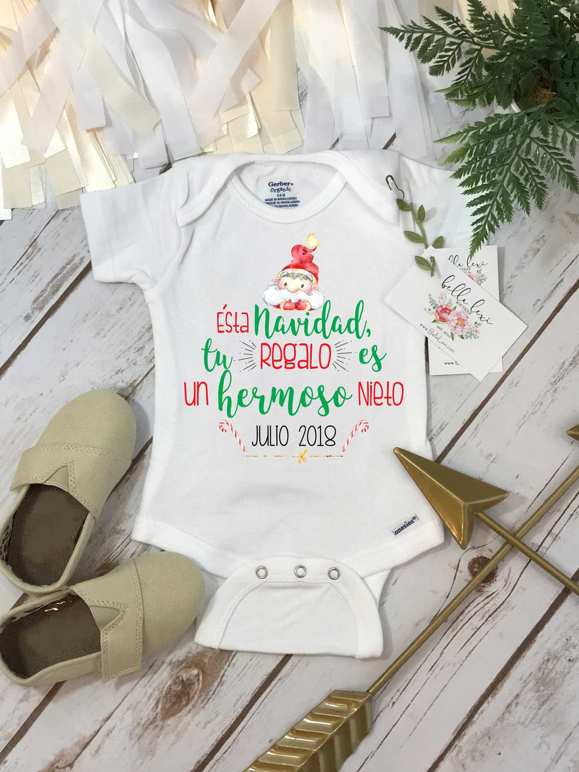 Spanish Pregnancy Reveal, Abuela y Abuelo, Pregnancy Announcement, Spanish Baby Reveal, Sorpresa Bebe en Camino - Bella Lexi Boutique