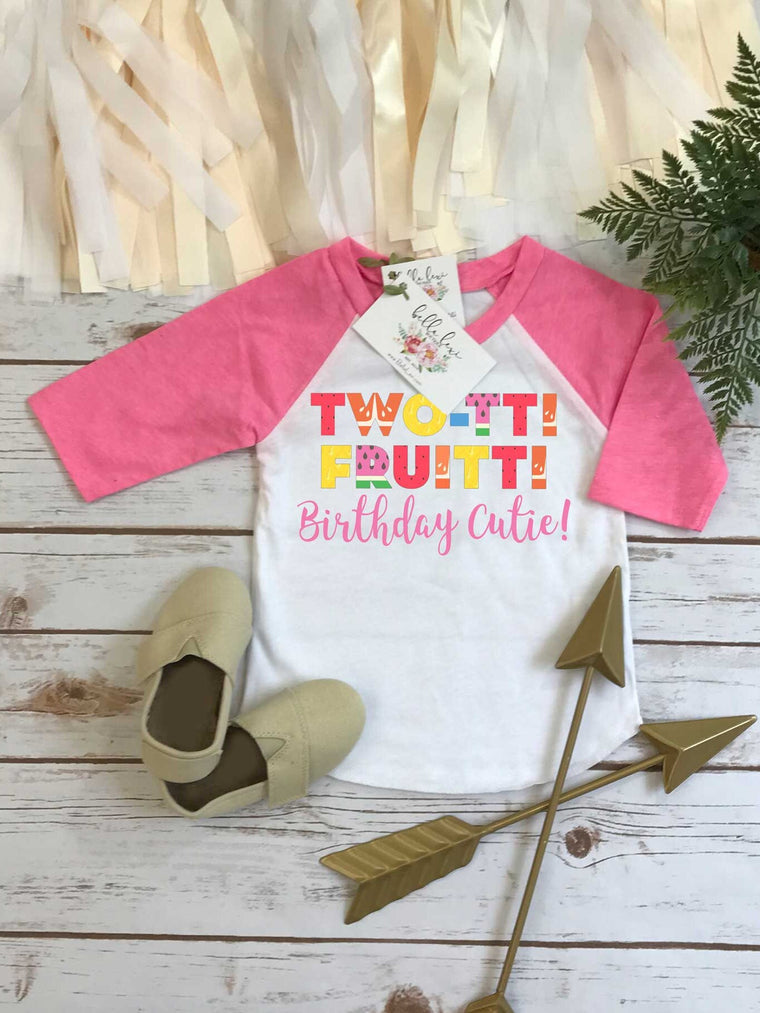Second Birthday, Twotti Fruity theme, 2nd Birthday Shirt, BIRTHDAY CUTIE, 2nd Birthday