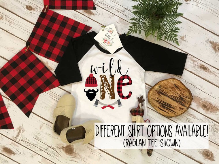 First Birthday Shirt, Lumberjack Birthday, 1st Birthday shirt, Buffalo Plaid Party, Lumberjack Party