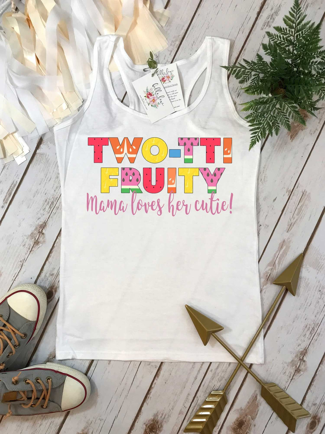Twotti Fruity Party, 2nd Birthday Shirt, Summer Birthday, 2nd Birthday, Girl Birthday set