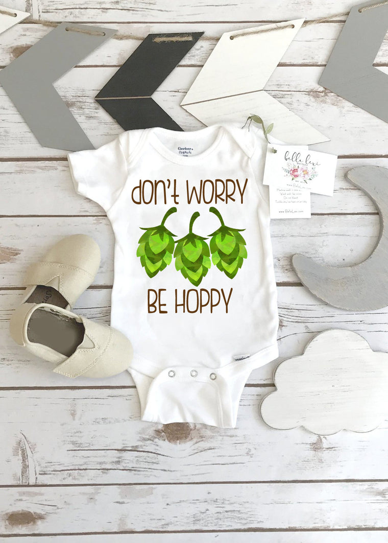 Daddy Pregnancy Reveal, Don't Worry Be Hoppy, Beer Shirt, Father's Day Gift, Funny Baby Gift