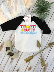 Second Birthday, Twotti Fruity theme, 2nd Birthday Shirt, Summer Birthday, 2nd Birthday