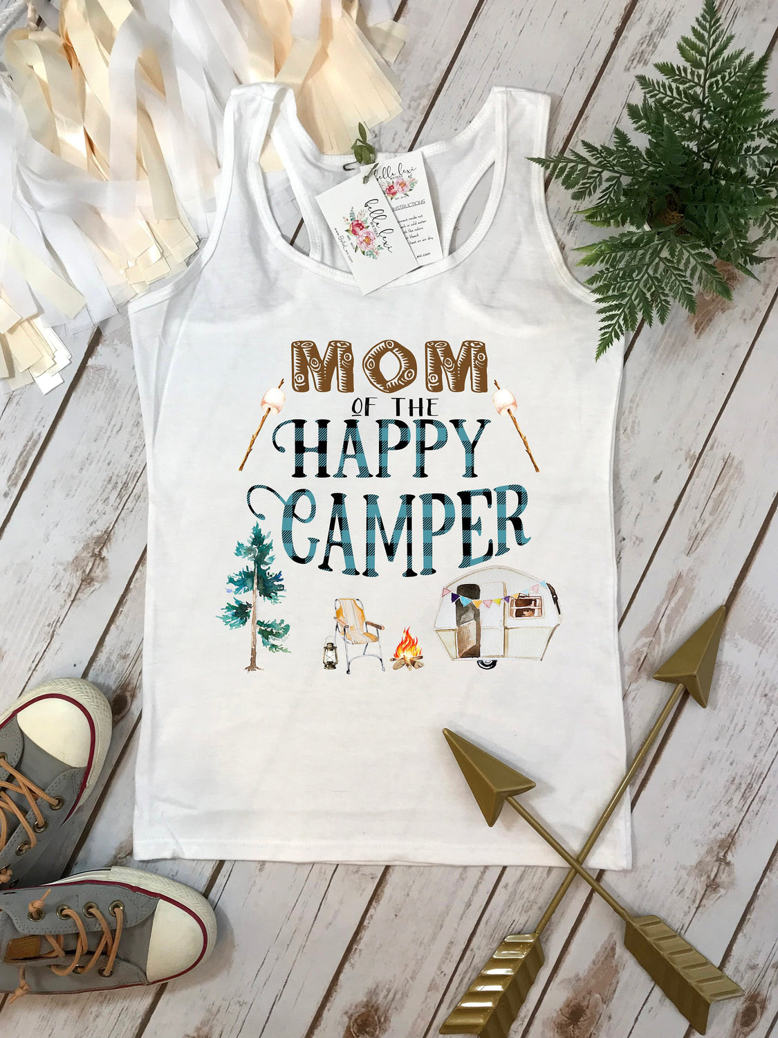 Happy Camper Shirt, First Birthday, Mom of the Happy Camper, One Happy Camper, 1st Birthday