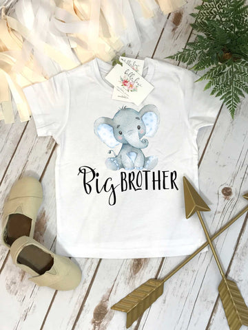Big Brother Shirt, Elephant Shirt, Brothers Shirts, Big Brother Bear Shirt, Baby Reveal