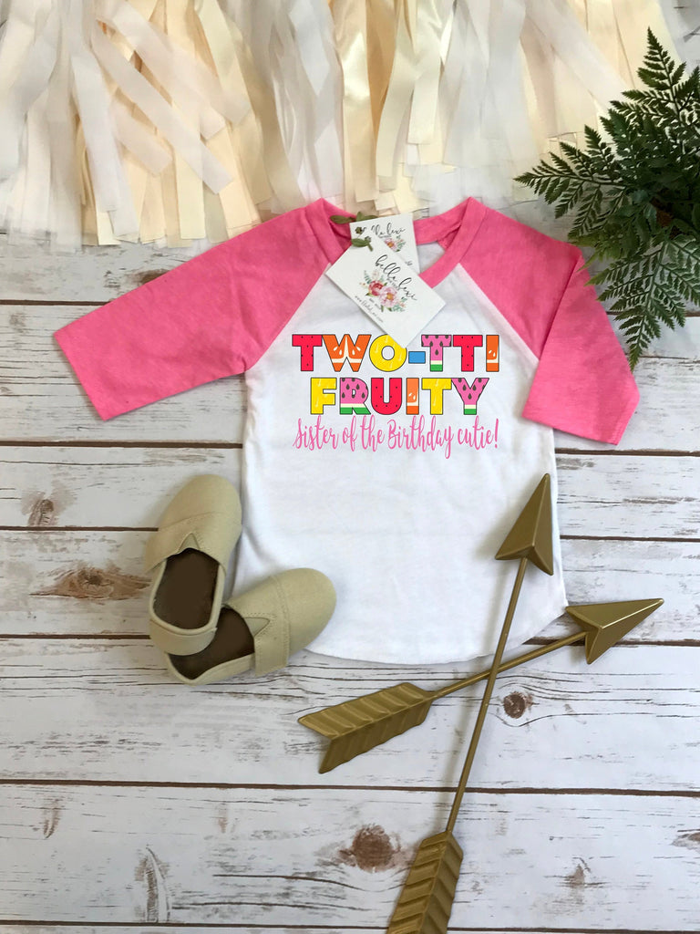 Second Birthday, Twotti Fruity theme, SISTER Birthday Shirt, Summer Birthday, 2nd Birthday